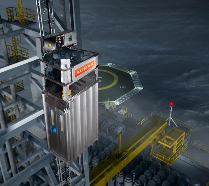 Ascenseurs offshore et de navires